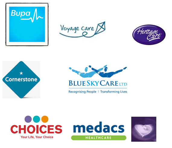 Bupa, Voyage Care, Heritage Care, Cornerstone, Blue Sky Care Ltd, Choices, Medacs Healthcare